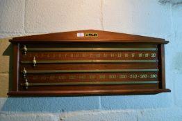 Riley snooker score board, width approx 92cm