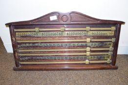 BCE snooker score board, width 70cm