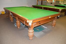 Burroughs & Watts full size competition standard billiards table