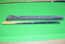 Snooker cue including a BCE custom carrying case