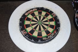 Dartboard with protective surround