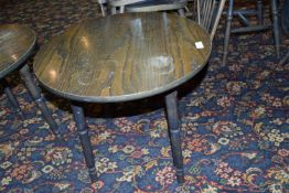 Two round wine tables, diam 60cm x 55cm high