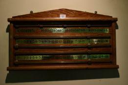 Snooker score board, width 70cm