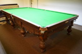 Full size Burroughs & Watts competition snooker table