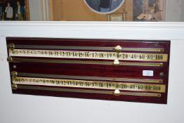 Snooker score board width approx 65cm