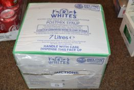 Box of 7 ltrs of Whites mix syrup BB June 2021