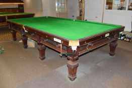 Burroughs & Watts full size competition standard snooker table