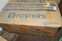 Box of 24 Fosters pint glasses