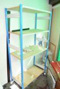 Freestanding shelves, width approx 1m x 180cm height x 50cm depth