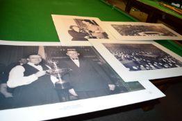 Poster of the 1948 World Championship, Fred Davis v Walter Donaldson plus the World Championships at