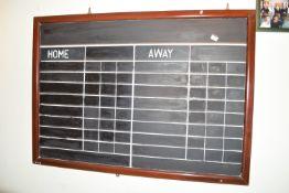 Bar competition scoreboard, width 135cm
