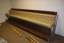 Large bench seat, width 395cm x 105cm high x 75cm deep