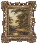 Jan Evert Morel (1777-1808), both signed lower left pair of oils on panel, Dutch landscapes (2)