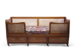 Of Victorian Period Historical Interest: a mid-19th century century mahogany and double-caned