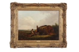 Thomas Smythe (1825-1906), Gipsy encampment, oil on canvas, indistinctly signed lower right, 30 x