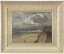 "Campbell Archibald Mellon, ROI, RBA, (1878-1955), ""Late July 10:30am, Hopton, 1932"", oil on panel,"