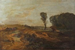 James Peel (1811-1906), Extensive landscape, oil on canvas, signed lower left, 34 x 51cm, unframed