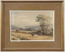 George Arthur Fripp (1813-1896), watercolour, Pastoral scene, 24 x 16cm