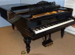 Steinway & Sons grand piano -1906 Seven foot full length serial model 121681- ebonised, retailed by