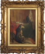 "After Sir Edwin Landseer (19th century), ""High Life"" and ""Low Life"", pair of oils on canvas, bearing"