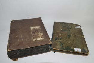 TWO POSTCARD ALBUMS WITH POSTCARDS, MAINLY TOPOGRAPHICAL, SOME HUMOROUS