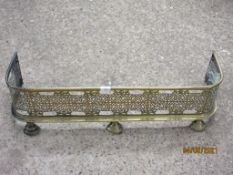 SMALL BRASS FIRE KERB, LENGTH APPROX 87CM