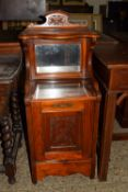 EARLY 20TH CENTURY HALL BOX WITH CARVED DECORATION, WIDTH APPROX 43CM