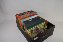 BOX CONTAINING QUANTITY OF CHILDREN'S ANNUALS, PIP AND SQUEAK 1932, GREYFRIARS HOLIDAY ANNUAL FOR