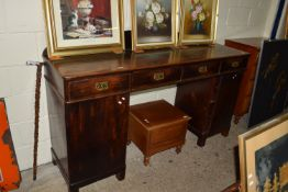 IMPRESSIVE EARLY 19TH CENTURY OAK SIDEBOARD OR DRESSER, FOUR DRAWERS SET OVER TWO CUPBOARDS, THE