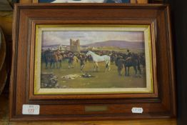 THREE FRAMED HORSE PRINTS AFTER MUNNINGS