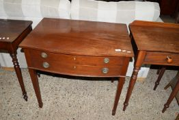 EARLY TO MID 20TH CENTURY SERPENTINE FRONT CUTLERY CANTEEN COMPRISING TWO FITTED DRAWERS OVER