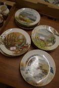 QUANTITY OF COLLECTORS PLATES BY ROYAL WORCESTER FROM THE COLOURS OF AUTUMN SERIES