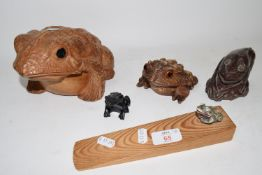 WOODEN MODELS OF FROGS