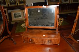 19TH CENTURY SWING MIRROR WITH DRAWERS BENEATH, WIDTH APPROX 49CM