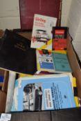 BOX CONTAINING MOTORING MANUALS AND MEMORABILIA