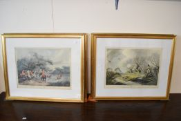 SET OF SIX HUNTING AND SHOOTING PRINTS AFTER HOWITT, EACH APPROX 34 X 45CM