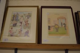 SERIES OF PRINTS, SPORTING RELATED INCLUDING MR PUNCH'S POLITICAL GOLF TOURNAMENT