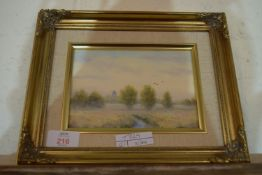 SMALL OIL ON BOARD OF BECCLES, SIGNED M PARKER