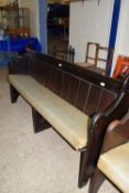 VINTAGE PAINTED PINE PEW, LENGTH APPROX 178CM