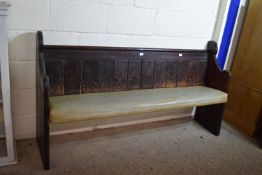 PAINTED PINE PEW, LENGTH APPROX 128CM