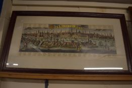 LARGE FRAMED MAP OF VENICE