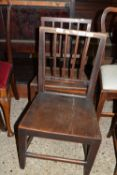 PAIR OF RUSTIC STAINED WOOD CHAIRS
