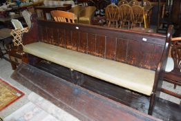 PAINTED PINE PEW, LENGTH APPROX 211CM