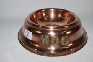 COPPER DOG WATER TRAY