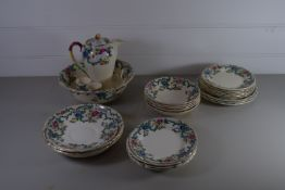 ROYAL CAULDON PART TEA SET, PLATES, BOWLS, DISH AND COFFEE POT