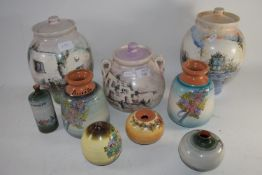 CERAMIC JARS AND COVERS