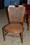 LOW CANE SEATED CHAIR