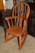 CHILD'S ROCKING CHAIR, APPROX 43CM WIDTH MAX