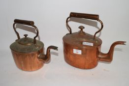 PAIR OF COPPER KETTLES