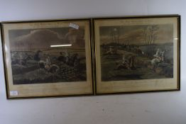 PRINT IN BLACK FRAME WITH GILT BORDER OF THE FIRST STEEPLECHASE
